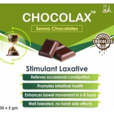 Chocolax Senna Chocolates (30 x 5gm ) Trroy Life Science