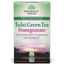 Tulasi Green Tea Pomegranate 18 Tea Bags Organic India