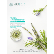 Herbs Fairness Facial Mask  Mirabelle  Pack of 5